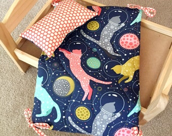 Cat In Space Mattress And Pillow Set By For Mew, Ikea Cat Doll Bed Bedding, Cat Lover