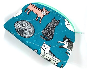 Kitty Cats Zipper Pouch By For Mew, Cat Lover Gift