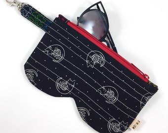 Cats And Yarn Glasses Case By For Mew, Cat Lady Cat Lover Gift