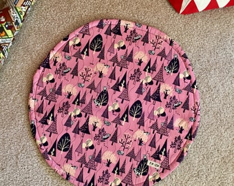 Forest Cats Cat Quilt Blanket For Mew, Cat Bedding, Cat Lady Cat Lover Gift