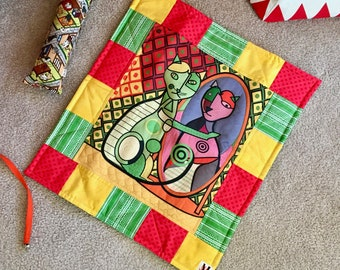 Art Cats Quilt Blanket For Mew, Cat Bedding, Cat Lady Cat Lover Gift