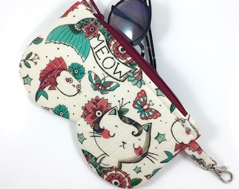 Born To Meow Glasses Case By For Mew, Cat Lady Cat Lover Gift