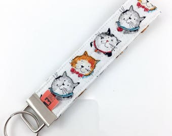 Kitty Cats Key Fob For Mew Cat Lover Key Chain, Gift For Cat Lover