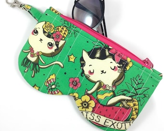 Miss Exotic Cat Glasses Case By For Mew, Cat Lady Cat Lover Gift