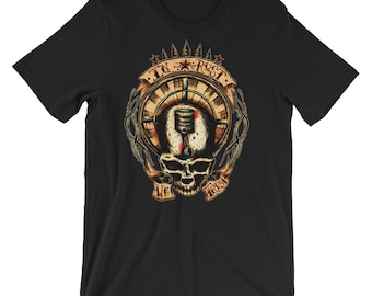 In Rust We Trust Short-Sleeve Unisex T-Shirt Traditional Tattoo Style Art By Agorables Old School Rat Rod Racing