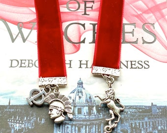Bookmark, All Souls Trilogy inspired, handmade bookmark, A discovery of witches, Philippe de Clermont, fan art, All Souls Trilogy