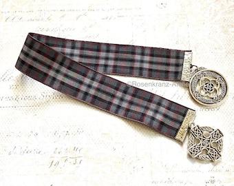 Bookmark, Outlander inspired, Book mark, tartan ribbon, scottish, Highlands, Scotland, celtic, handmade
