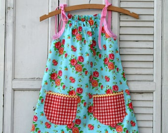 Instant Download The Junebug Sun Dress PDF Sewing Pattern DIY Tutorial Little Bird Lane Size 12 Mo to Size 7-8