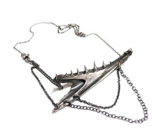 SALE fish jaw necklace