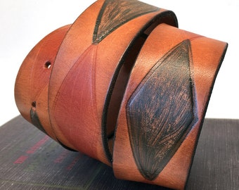 Rustic Diamond Leather Dog Collar, Custom Size To Fit Your Dog, Small, Medium, Large, EcoFriendly Leather Collar, Seattle Handmade, OOAK