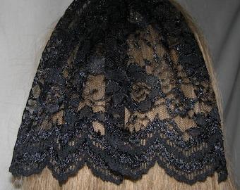 Black Floral Bat Mitzvah Head Covering | Lace Kippah Hair Covers | Simcha Headcovering | Bar Mitzvah Kippah | Doily Headcover | Kippot | Hat