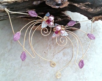 Pink Elf Ear Cuff Wraps Pair or Single, Princess Nadia Elven Ear Cuffs  Fairytale Wedding Jewelry, Elf Ears