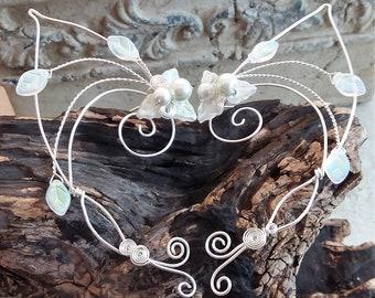 Filigree Elf Ear Cuff Wrap Aurora Frost Pair No Piercing