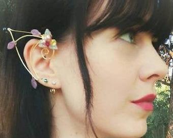 Pink Elf Ear Cuff Wraps Pair or Single, Princess Nadia Elven Ear Cuffs  Fairytale Wedding Jewelry, Elf Ears