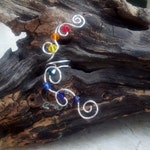 Rainbow Crystal Ear Cuff No Piercing Required Nickel Free Ear Cuff, Chakra Jewelry Gift Idea for Her, Stocking Stuffer