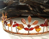 Amber Autumn Fairy Circlet Tiara Crown