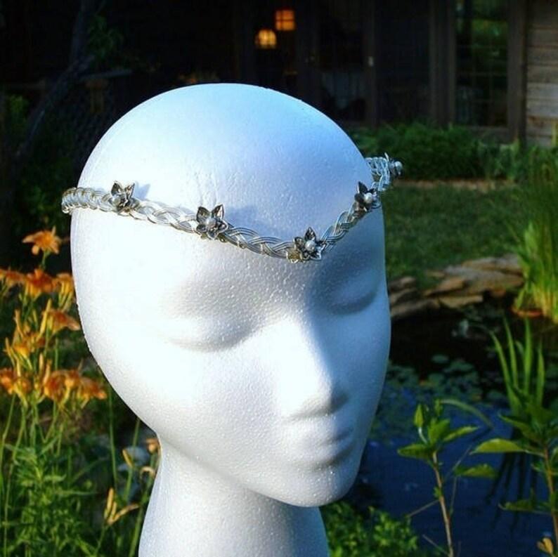 Elven Mithril Ivy Leaf Circlet Costume Crown Tiara Cosplay Headdress