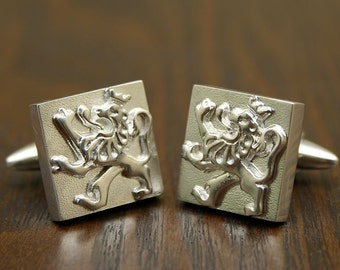 Colonial Lion - Sterling Silver Cufflinks