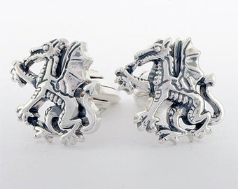 Dragon Cufflinks Sterling Silver