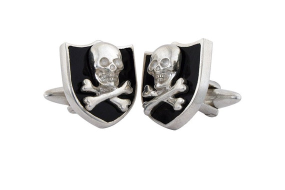 Select Gifts Bone England Heraldry Crest Sterling Silver Cufflinks Engraved Message Box