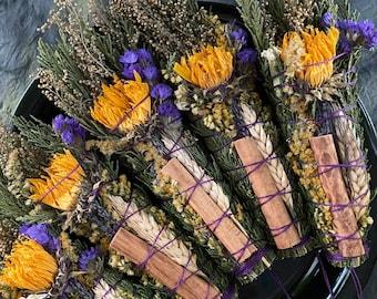 Autumn Blessing Bundle, Sustainable Smoke Ceremony Wand, Harvest Incense