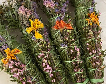 Autumn Garden Blessing Bundle, Sustainable Smoke Wand