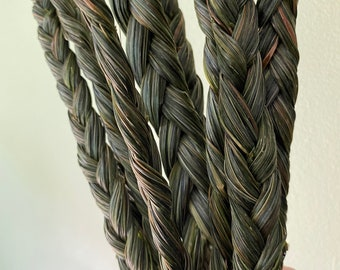 Sweetgrass Braid, Sustainable Natural and Ceremonial Vanilla Grass Incense