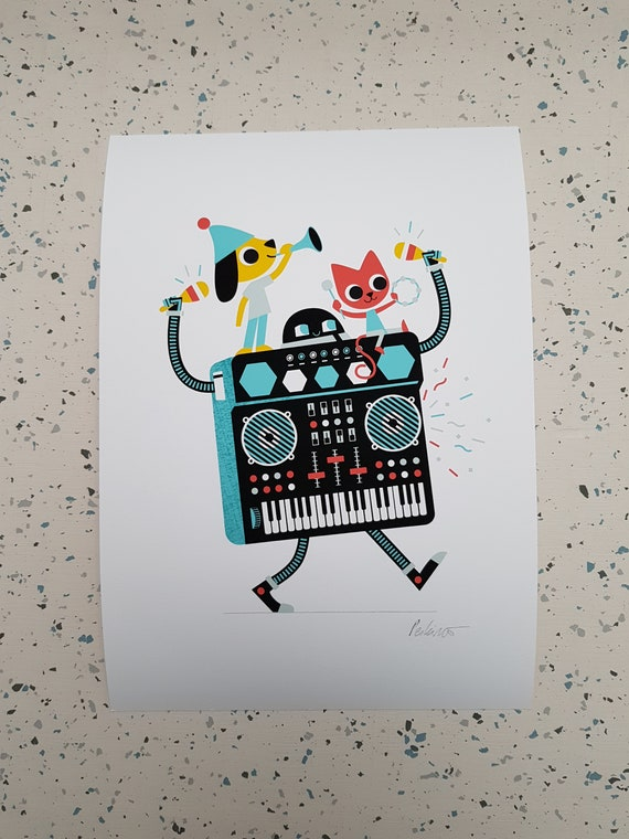 Synthi Party - A4 Giclee Print