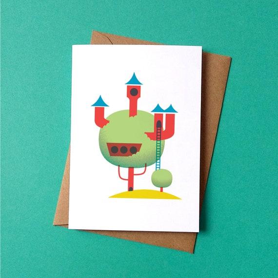 Garden City Greetings Card - by Peski Studio