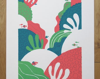 Coral Reef screen print by Peski Studio
