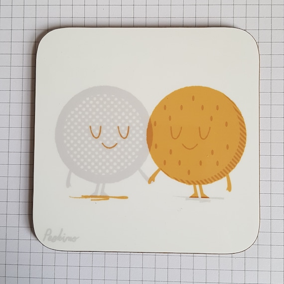 Tea and Biscuit cute coaster