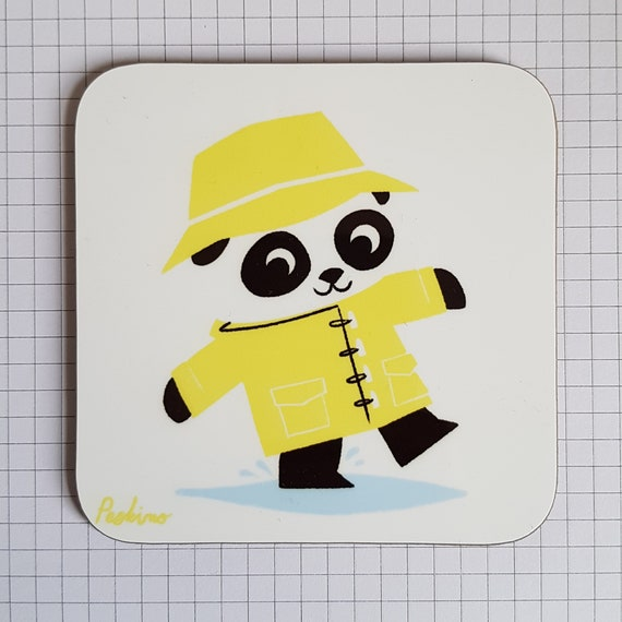 Puddle Panda coaster