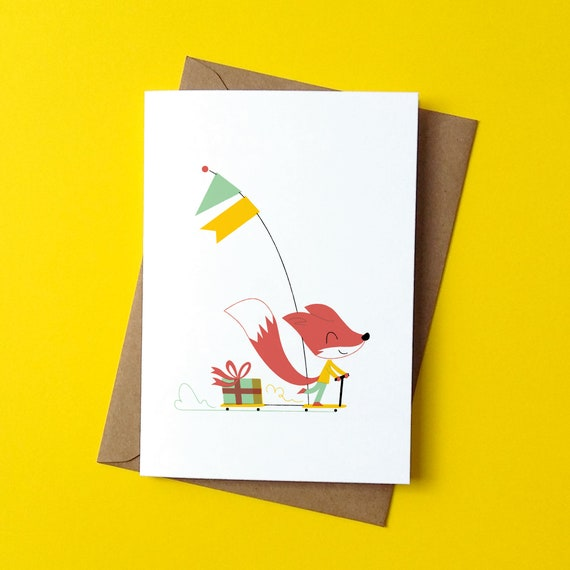Greetings Card - Scooter Ride - by Peskimo