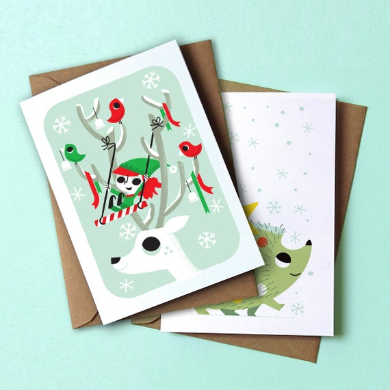 Christmas Cards pack of 4 designed by Peskimo