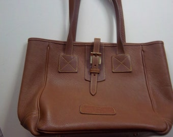 DOONEY   BOURKE purse bag camel tan quality pebble leather company VGC f056a7d6ddd7b