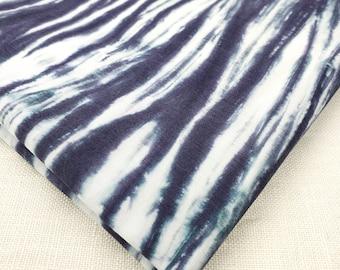 "Hand-dyed Arashi Shibori cotton 1 yard x 13 1/2"" Black White Art Quilt, home decor, clothing, sewing, drapery cotton by Duchess Froufrou"