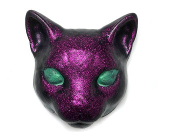 Black Cat Soap, Purple Glitter Soap