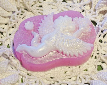 Cupid Soap, Cherub Soap, Valentine Soap, Sweetheart Soap, Valentine Gift, Vegan Soap, Bar Soap, Gift for her, Gift for girlfriend, pink soap