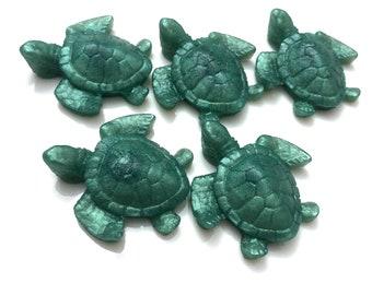Turtle Soap Embed, 10, 15, 20 Turtle Embellishment, Hawaiian Turtle