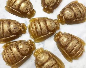 Bee Soap, Honey Bee Calendula Flower Petals, Handmade Soap, Bee Shaped Soap, Gift for Beekeeper, Gift for BFF, Gift for Her, Gift for Him