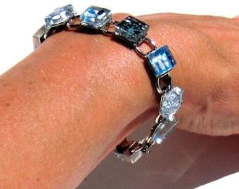 Hawaiian Luau. A Kimono Cube Glass TiIe Bracelet by Gamiworks
