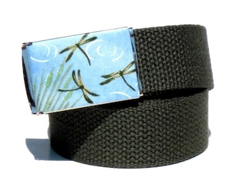 Obi Belt Buckle - dragonflies (Buckle Only) Vegan Friendly Belts
