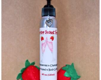 Strawberries & Champagne Body Lotion (Paraben Free)