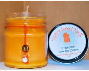 Orange Creamsicle Soy Mason Jar Candle 8oz