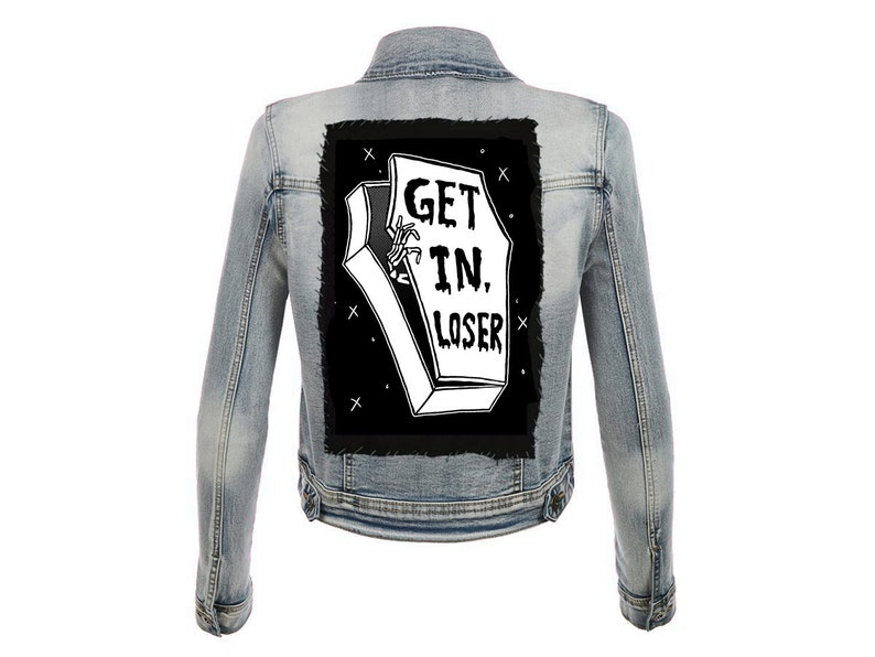 Mean Ghouls  Get in Loser  Large Back Patch image 0