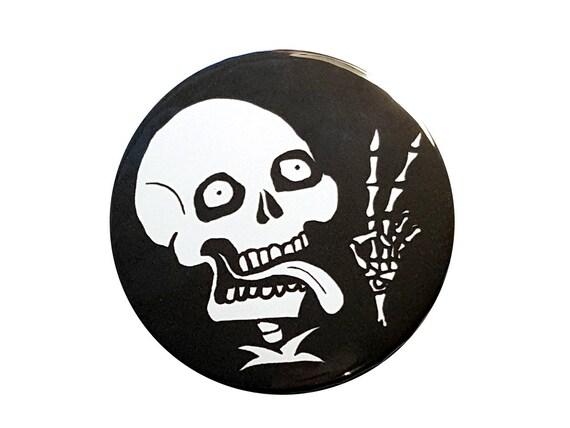 Selfie Skull Button