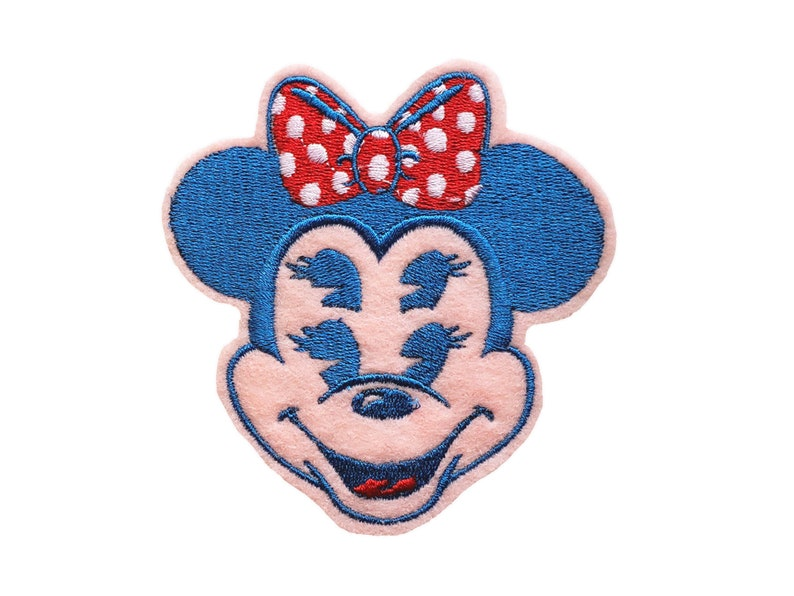 Disnee Weird Minee  Embroidered Patch Pink and Blue
