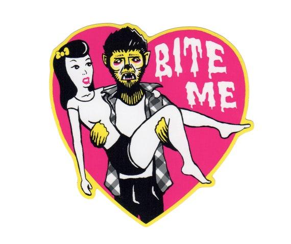 BITE ME Vinyl Sticker