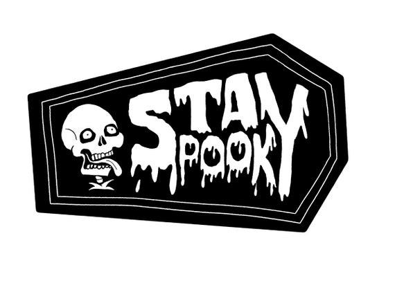 STAY SPOOKY - Skellfie Vinyl Sticker