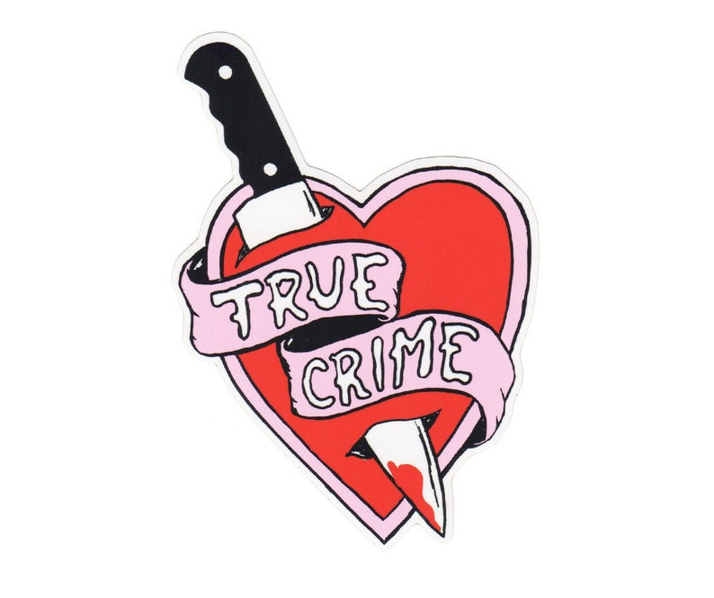 True Crime Vinyl Sticker image 0